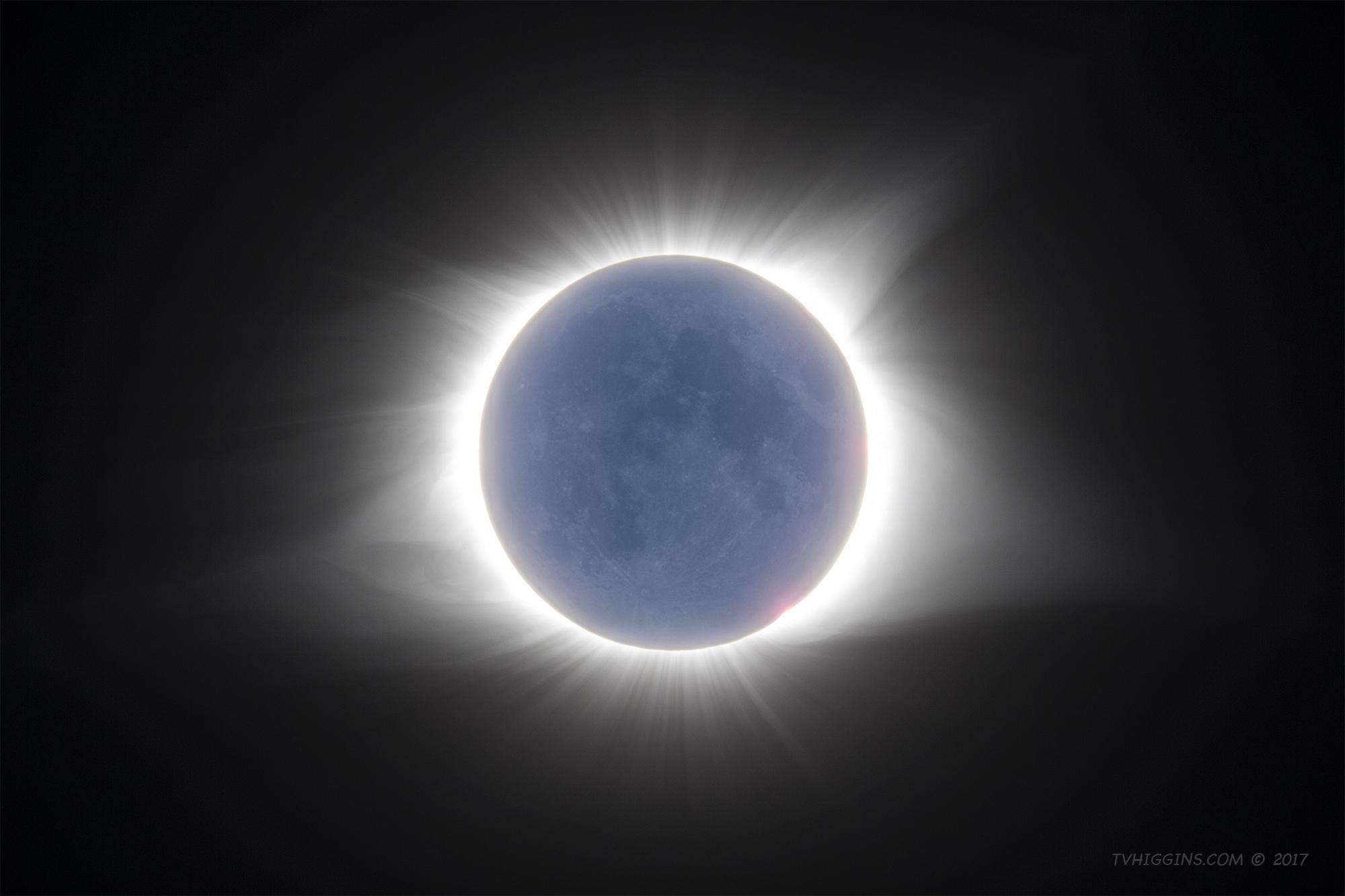 Solar Corona & Moon
