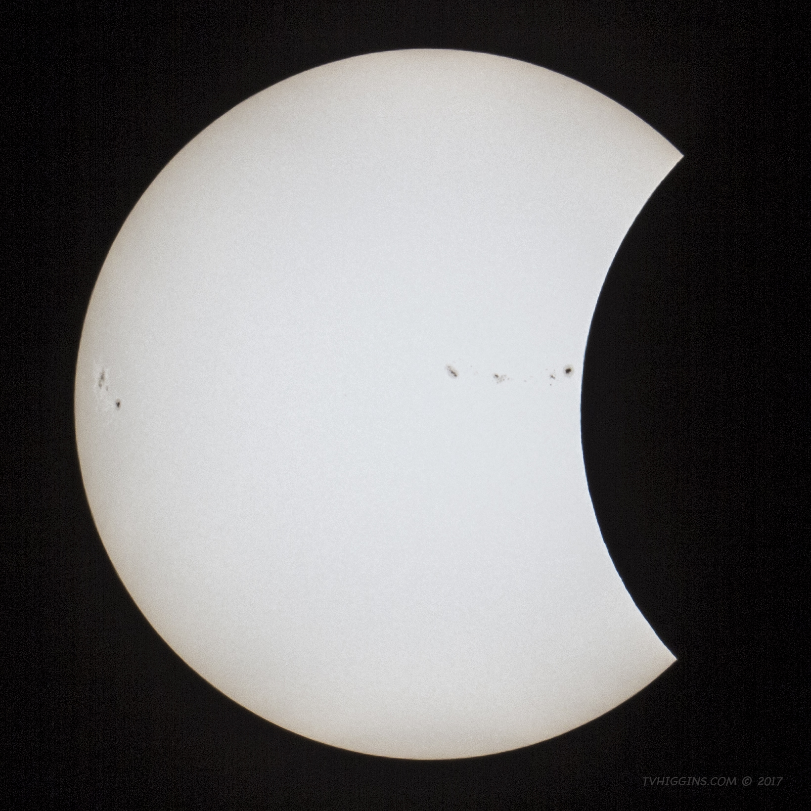 2017 Solar Eclipse: Partial Phase I